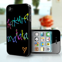 Hakuna Matata  iPhone 4S and iPhone 4 Case Cover by DanazDesigns