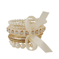 Rhinestones And Pearlescent Bangles | FOREVER21 - 1062097859