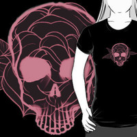 """Skull Flower"" T-Shirts & Hoodies by Crazy8 