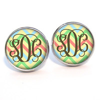 Monogram Stud Earrings (378)