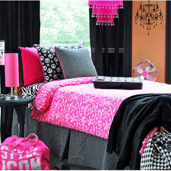 Girls college dorm bedding mademoiselle from peace love amp bed