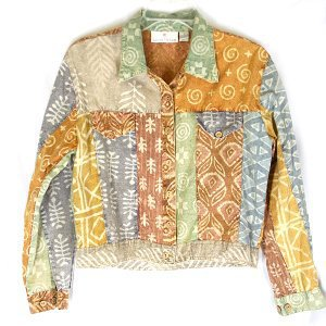 Sacred Threads Batik Cotton Jacket-Like Shirt/Top Women's Size Small (S)