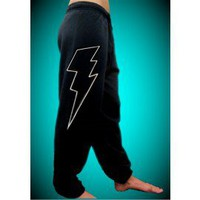 Thunder Bolt White Sweatpants 546 - Sweatpants