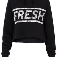 **Fresh Cropped Hoody by Illustrated People - Jersey Tops  - Clothing