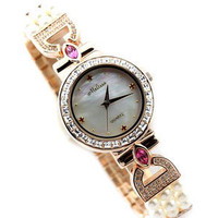 Melissa Ultra Slim Crystals Bead Watch for Ladies - GULLEITRUSTMART.COM