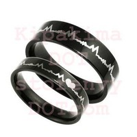 Product - Couple heartbeat rings by Shop @ Kipakima · Storenvy