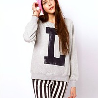 Vero Moda Letterman Sweat Top