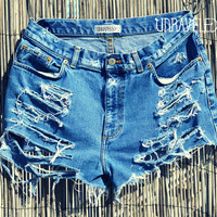 Distressed Denim Shorts (MEDIUM)