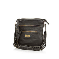 Black mini cross body messenger bag