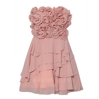 Rose Babydoll Prom  Dress