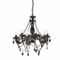 Wake Up Frankie - 6 Light Black Chandelier