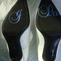 I Do Shoe Sticker for Brides Shoes Something by madebytheresarenee