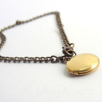 Free Shipping Brass Locket Bracelet Flat Round by MistyAurora
