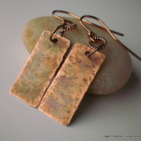 Warm patina copper earrings by JudysDesigns on Etsy