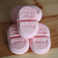 Take a Chill Pill (bath bombs/fizzies) - custom scent, custom color, set of four, novelty, pharmacy, nurse, doctor