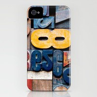 Edgy Letterpress: Eighty-Eight iPhone Case by Typography Photography? | Society6