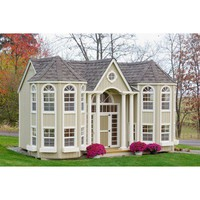 Hand-Crafted Grand Mansion Playhouse 10x16Freight Include 50-year Ltd Warranty