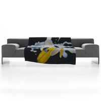 Ryan Rice Fine Art Banana Cream Pi Fleece Throw Blanket