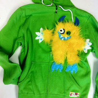 mischievous monster hoodie sweatshirt by SoSoHippo on Etsy