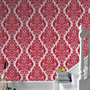 Kinky Vintage Scarlet Starlet  Wallpaper by Graham and Brown