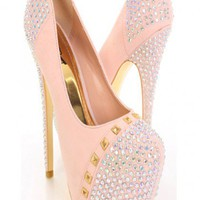 Nude Gold Rhinestone Studded Platform Pump Heels @ Amiclubwear Heel Shoes online store sales:Stiletto Heel Shoes,High Heel Pumps,Womens High Heel Shoes,Prom Shoes,Summer Shoes,Spring Shoes,Spool Heel,Womens Dress Shoes,Prom Heels,Prom Pumps,High Heel Sand