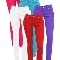 ALMOST FAMOUS COLORED SKINNY JEANS | Body Central