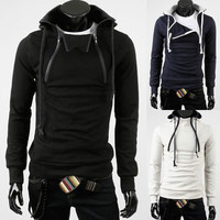 NEW Mens Slim Sexy Top Designed Hoody Jacket 3 COLOR 4 Size | eBay