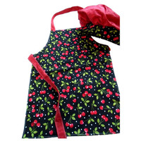 Cherries -- Lil Chef Apron and Hat Set