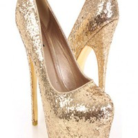 Gold Glitter Faux Leather Closed Toe Platform Pump Heels @ Amiclubwear Heel Shoes online store sales:Stiletto Heel Shoes,High Heel Pumps,Womens High Heel Shoes,Prom Shoes,Summer Shoes,Spring Shoes,Spool Heel,Womens Dress Shoes,Prom Heels,Prom Pumps,High H