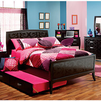 Belle Noir Dark Merlot   5 Pc Full Bedroom
