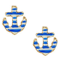 ANCHOR STUD EARRINGS - Betsey Johnson