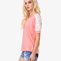Lace Sleeve Top | FOREVER 21 - 2026673992