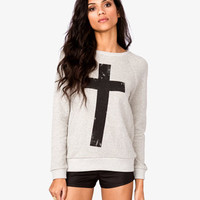 French Terry Cross Pullover | FOREVER 21 - 2046144814