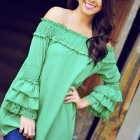 It&#x27;s A Fiesta Tunic: Kelly Green | Hope&#x27;s