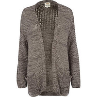 Light grey fluffy cardigan