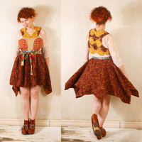 Gypsy dress Patchwork dress Crochet dress woman Woodland dress Fairytale dress Bohemian dress Winter dress Festival dress Red dress woman