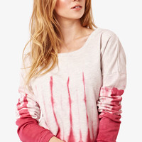 Pink Tie Dye Sweat Top at Fashion Union