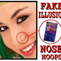 Fake Illusion Clip on Nose Ring #20