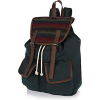 Green forest stripe rucksack