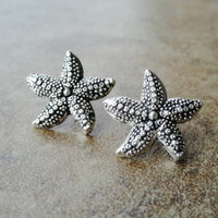 Starfish Earrings by CuteBellyRings on Etsy