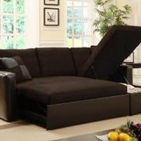 Amazon.com: Adjustable Sectional Sofa Bed with Storage Chase: Home &amp; Kitchen