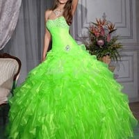 Green Ball Gown Prom Dress Voile Sweetheart Evening/Party/Quinceanera Dress