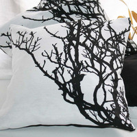 Black and white CUSHION cover tree branch by Netamente on Etsy