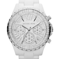 Michael Kors &#x27;Madison&#x27; Crystal Bezel Ceramic Watch | Nordstrom