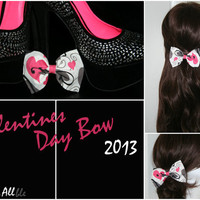 Valentines Day Inspired Clip On Bow
