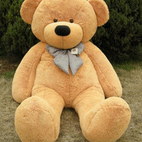 "78"" Giant Brown Teddy Bear Stuffed Animal Valentine's Day Gift"