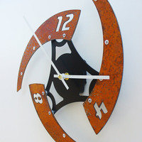Sweep IV Modern Clock Rusted by All15Designs on Etsy