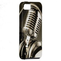 Microphone & Headphone Case Cover iPhone 5 Case from Zazzle.com