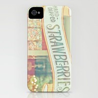 Hand-Dipped Strawberries iPhone Case by JoyHey | Society6