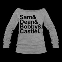 The Supernatural Fab Four - Sam, Dean, Bobby & Cas Sweatshirt | Spreadshirt | ID: 8877624